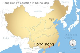 hong kong location in china