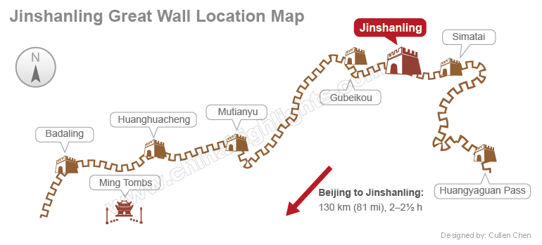 jinshanling location map