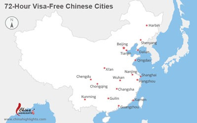 Visa-free cities map